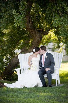 Modern Elegant Peach and Navy Maine Wedding via TheELD.com