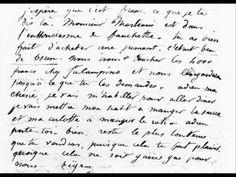 Lettre de George Sand à Alfred de Musset - YouTube