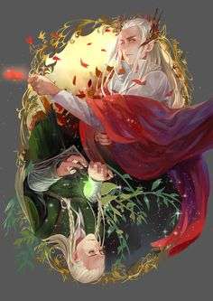 Thranduil and Legolas. Legolas looks awesome in this! Tauriel, Legolas Et Thranduil, Legolas Father, Hobbit Art, O Hobbit, Jrr Tolkien, Fellowship Of The Ring, Lord Of The Rings, Das Silmarillion