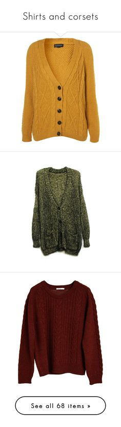 Fuzzy Boyfriend Cardigan ($55) ❤ liked on Polyvore featuring tops ...