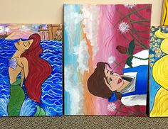 Can you name these two #Disney #characters? This is a small sample of some amazing new paintings from a young #LasVegas #Artist.  #NevadaArtPrinters - Google+