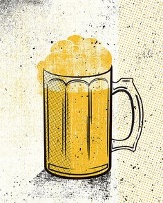 Beers Yellow Set by twoarms on Etsy