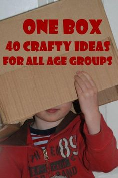 1 Cardboard Box - over 40 FABULOUS cardboard box craft projects. Take a look and be inspired to get crafty with the kids (alternatively, let them loose on the box and see what they come up with!)