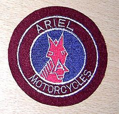 CLASSIC ARIEL RED HUNTER EMBROIDERED MOTORCYCLE PATCH