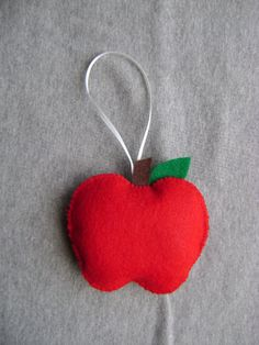 Apple Ornament FREE SHIPPING US Domestic by Tuscanycreative, $8.00