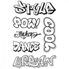 Woodware clear stamp: Graffiti