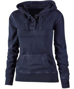 Active Hooded Solid Color Buttoned Pocket Pullover Hoodie For WomenSweatshirts & Hoodies | RoseGal.com