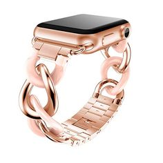 Stainless Steel Bracelet iWatch Band For Apple Watch Series 1 2 3 Rose Gold Apple Watch ケース, Smart Watch Apple, Apple Watch Series 3, Apple Watch Stainless Steel, Stainless Steel Bracelet, Custom Apple Watch Bands, Apple Watch Leather Strap, Jewelry Accessories, Watches