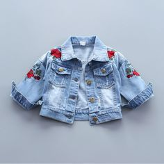 Cheap baby coat, Buy Quality children girls cardigans directly from China baby girl cardigan jacket Suppliers: Baby Outerwear Coat Girl Jeans Jacket Spring Embroidery Flower Kids Denim Coat Toddler Girls Cardigan Children Outwear Coats Baby Denim Jacket, Denim Coat, Baby Girl Jeans, Girls Jeans, Baby Girls, Girl Toddler, Kids Girls, Denim Mantel, Jean Jacket For Girls
