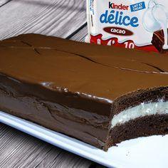 Офигенный, нежный, воздушный торт киндер делис (kinder delice). Огромный, гигантский киндер.