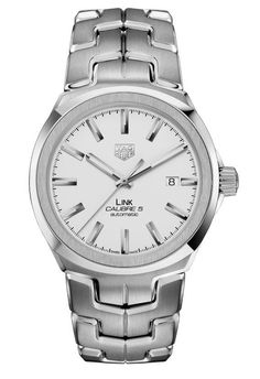 To celebrate its 30th year anniversary, the @tagheuer Link for Men Calibre 5, shown here with silver-plated dial, received a makeover. Its most prominent design update is the enlarged bezel, which deftly merges a cushion-shaped base, bearing four softly edged corners, with an overlaid ring. More @ http://www.watchtime.com/wristwatch-industry-news/watches/the-tag-heuer-link-gets-a-makeover-for-its-30th-birthday/ #watchtime #tagheuer #menswatches