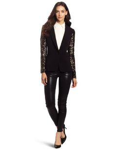 70% Off was $179.00, now is $53.37! DKNYC Women's Long Sleeve Jacket with Sequin Sleeves