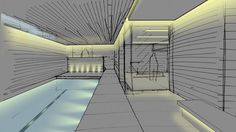 Nulty - Residential Interior Modern Living Space Swimming Pool Lighting Design