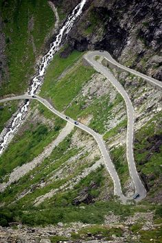 Norway -- egads, been here.... only room for tiny euro cars, very steep...you just know you're going to die here. then you don't. But I still get nauseous at the sight! SO WHY AM I PINNING IT!? heheheh  ::sigh:: because I must? yeah... that's it.