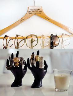 Ideias criativas de como guardar óculos e anéis e inovar na decoração.