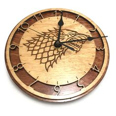 Game of Thrones Laser-Cut Wall Clocks - Created by...
