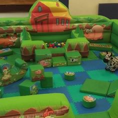 Soft Play hire in Sheffield, Chesterfield and Rotherham Disco Bouncy Castle, Soft Play, Seesaw, Farm Yard, Chesterfield, Sheffield, Little Ones, Shapes, Outdoor Decor