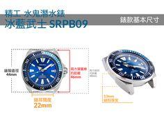 [太空人錶帶學堂] 熱門精工款式的詳細尺寸介紹~PART I – 太空人腕時計TW