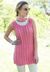 Caron International | Free Project | Knit Tank Tunic #knit #spring