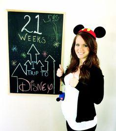Kayden 21 weeks pregnancy chalkboard . Pregnancy tracker baby countdown