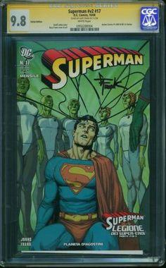 SUPERMAN V2 ITALIAN EDITION #17 CGC SS 9.8 GARY FRANK SIGNATURE HIGHEST GRADE