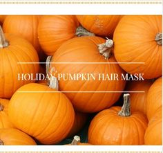 Easy DIY Holiday Pumpkin Hair Mask Recipe For Dry Hair  Read the article here - http://www.blackhairinformation.com/growth/deep-conditioning/easy-diy-holiday-pumpkin-hair-mask-recipe-dry-hair/