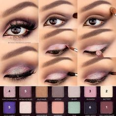 """""""Sparkly purple tones. Here are the steps for yesterday's look, using the @anastasiabeverlyhills Self Made palette! I'll post a blog with more details &…"""""""