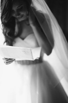 write notes to one another and read them before the wedding. have the photographer take pictures as you both read them.
