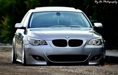 BMW E60 5 series silver slammed