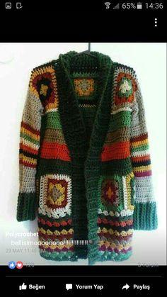 Crocheted Hooded Baby Cardigan Making - Meryem İpek Koç- # Baby . - - Crocheted Hooded Baby Cardigan Making – Meryem İpek Koç- # Baby … – Crocheted Hooded Baby Cardigan Making – Meryem İpek Koç- # Baby … – Pull Crochet, Gilet Crochet, Mode Crochet, Crochet Baby Cardigan, Crochet Coat, Crochet Jacket, Crochet Granny, Crochet Clothes, Crochet Fashion