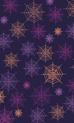 Colorful Halloween spider web pattern.
