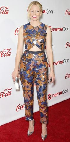 Elizabeth Banks in a Kaelen jumpsuit.