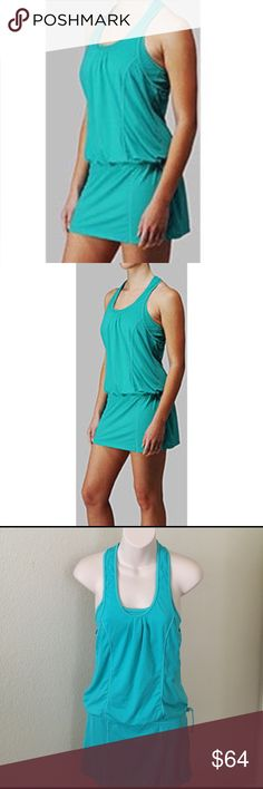 LULULEMON Run for Fun Running Tennis Dress Lululemon Short Teal Blue Technical Running Tunic or Tennis Dress. Run for Fun dress in size 2. It is made of a light textured fabric that looks similar to silverescent fabric. Secret pocket inside and pull cinch waist. Perfect pre owned condition. From a clean and smoke free home. No trades please 💕 lululemon athletica Other
