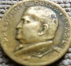 moeda brasileira antiga - 1953 - Presidente Dutra no verso