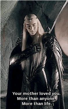 Saddest and yet the best moment of Thranduil in the movie. <3