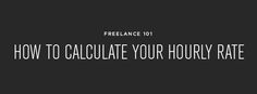 The most helpful resource I have ever found for determining your hourly rate. | Vale Design
