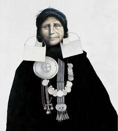 Mapuche woman, 19th century || Illustration by José Pérez de Arce