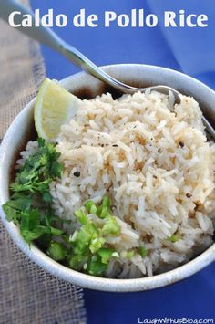 Easy no-tomato Caldo de Pollo Mexican Rice perfect to accompany any Mexican meal!