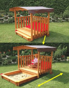 Awesome way to keep the sandbox clean and out of the way