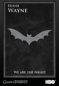 Batman's Game of Thrones House Sigil