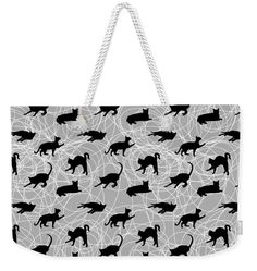 Weekender Tote Bag featuring the digital art Cat And Yarn Graphic Print by Shara Lee