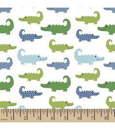 Nursery Fabric 3D Gator Little Gentleman