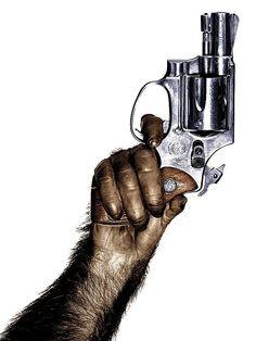 RIGHT ON! Monkey with Gun, 1992. Photo: Albert Watson.