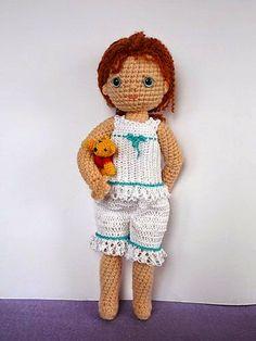 Crochet Dolls Patterns Ravelry: Crochet Bleuette FREE pattern by Beth Ann Webber. Ravelry Crochet, Crochet Amigurumi, Crochet Doll Pattern, Amigurumi Doll, Amigurumi Patterns, Doll Patterns, Crochet Patterns, Ravelry Free, Cute Crochet