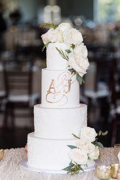 white wedding cakes wedding cakes cakes elegant cakes rustic cakes simple cakes unique cakes with flowers Wedding Cake Bakery, 4 Tier Wedding Cake, Wedding Cake Centerpieces, Wedding Cake Designs, Wedding Cake Stands, Fall Wedding Decorations, Wedding Cake Toppers, Wedding Themes, Wedding Events