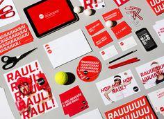 Raul advertising agency - Corporate visual identity by Dynamo design, photo of printed realization by w:u studio Advertising Agency, Visual Identity, Paper Design, Branding, Graphic Design, Studio, Printed, Brand Management, Corporate Design