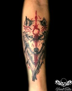 You want to make a wolf tattoo? Be in the leg, forearm or thigh? We separated a bunch of wolf tattoos to inspire you. Wolf Tattoo Forearm, Wolf Tattoo Sleeve, Forarm Tattoos, Body Art Tattoos, Hand Tattoos, Sleeve Tattoos, Cool Tattoos, Tatoos, Wolf Tattoos Men