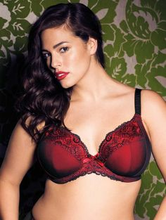 plusmodelmagazine:  We love the Elomi 'Anushka' Plunge Bra avail Forever Yours Lingerie CLICK HERE http://bit.ly/1hHt6AT