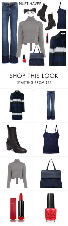"""Back to Basics: Black Booties"" by sproetje ❤ liked on Polyvore featuring Diane Von Furstenberg, RED Valentino, Frye, Cosabella, Rejina Pyo, Mansur Gavriel, Max Factor, OPI, Yves Saint Laurent and ootd"