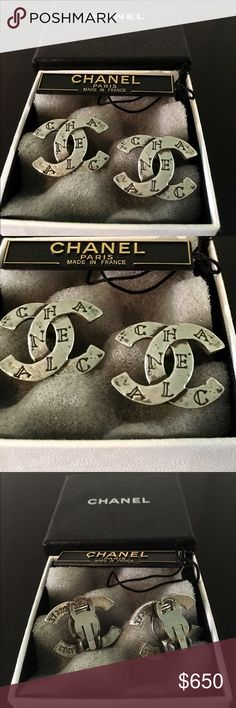 Vintage Chanel CC Earrings These are 20 years old and are in excellent condition. They are clip on. Retired and impossible to find. They are in their original box. I am the only owner. No trades. No PayPal. CHANEL Jewelry Earrings